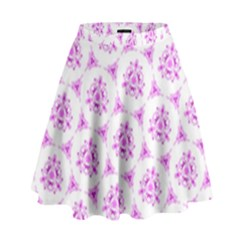Sweet Doodle Pattern Pink High Waist Skirt