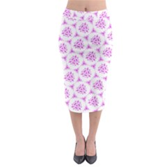 Sweet Doodle Pattern Pink Midi Pencil Skirt