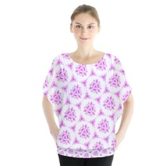 Sweet Doodle Pattern Pink Blouse