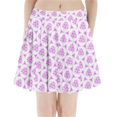 Sweet Doodle Pattern Pink Pleated Mini Skirt