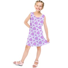 Sweet Doodle Pattern Pink Kids  Tunic Dress