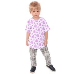 Sweet Doodle Pattern Pink Kids  Raglan Tee