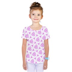 Sweet Doodle Pattern Pink Kids  One Piece Tee