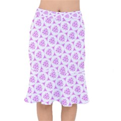 Sweet Doodle Pattern Pink Mermaid Skirt