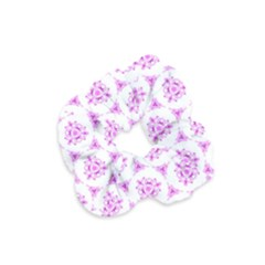 Sweet Doodle Pattern Pink Velvet Scrunchie