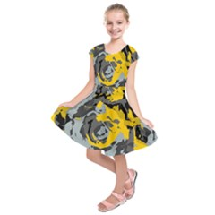 Abstract Art Kids  Short Sleeve Dress