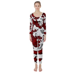 Abstract Art Long Sleeve Catsuit by ValentinaDesign