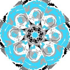 Abstract Art Hook Handle Umbrellas (small) by ValentinaDesign