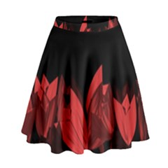 Tulips High Waist Skirt by ValentinaDesign
