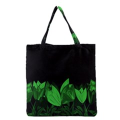 Tulips Grocery Tote Bag by ValentinaDesign