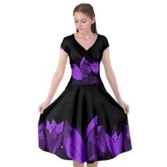 Tulips Cap Sleeve Wrap Front Dress