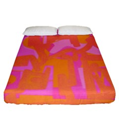 Abstract Art Fitted Sheet (queen Size) by ValentinaDesign