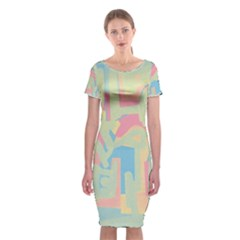 Abstract Art Classic Short Sleeve Midi Dress by ValentinaDesign
