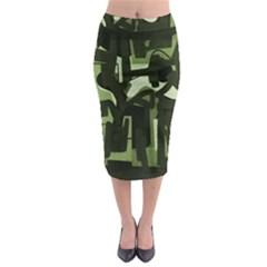 Abstract Art Midi Pencil Skirt by ValentinaDesign