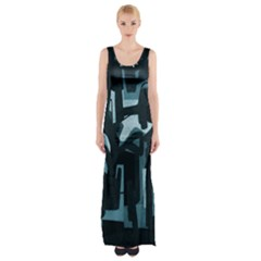 Abstract Art Maxi Thigh Split Dress