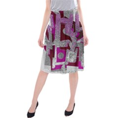 Abstract Art Midi Beach Skirt by ValentinaDesign