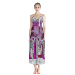 Abstract Art Chiffon Maxi Dress