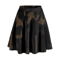 Abstract Art High Waist Skirt by ValentinaDesign