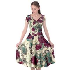 Floral Dreams 10 Cap Sleeve Wrap Front Dress by MoreColorsinLife