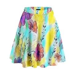 Floral Dreams 12 High Waist Skirt by MoreColorsinLife
