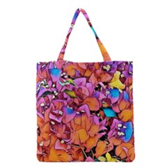 Floral Dreams 15 Grocery Tote Bag by MoreColorsinLife