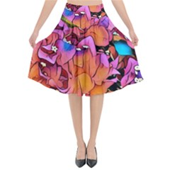 Floral Dreams 15 Flared Midi Skirt by MoreColorsinLife
