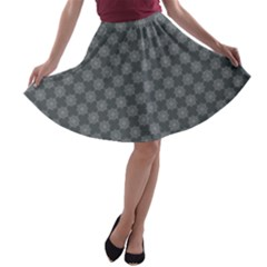 Pattern A-line Skater Skirt by ValentinaDesign