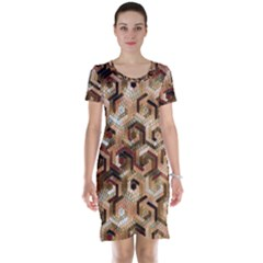 Pattern Factory 23 Brown Short Sleeve Nightdress by MoreColorsinLife