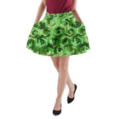 Pattern Factory 23 Green A Line Pocket Skirt by MoreColorsinLife