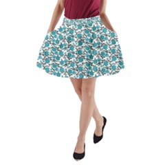 Roses Pattern A Line Pocket Skirt by Valentinaart