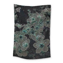 Glowing Flowers In The Dark C Small Tapestry by MoreColorsinLife