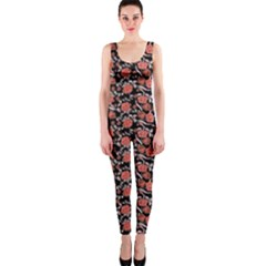 Roses Pattern Onepiece Catsuit by Valentinaart