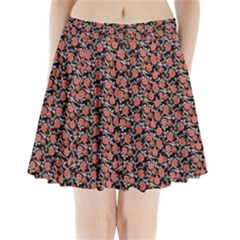 Roses Pattern Pleated Mini Skirt by Valentinaart
