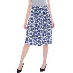 Roses Pattern Midi Beach Skirt by Valentinaart