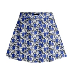 Roses Pattern Mini Flare Skirt by Valentinaart
