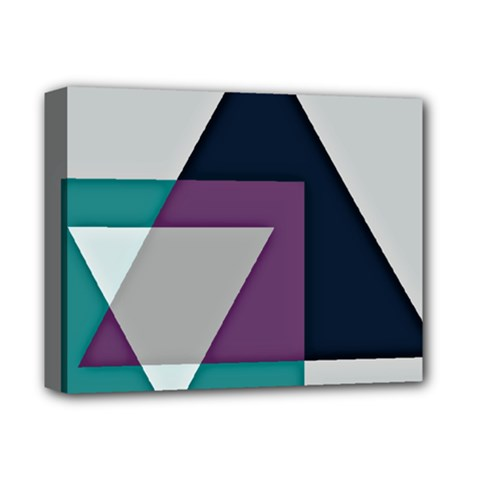 Geodesic Triangle Square Deluxe Canvas 14  x 11