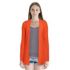 Bright Fluorescent Attack Orange Neon Cardigans by PodArtist