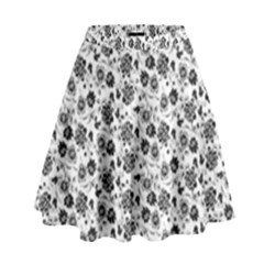 Roses Pattern High Waist Skirt by Valentinaart