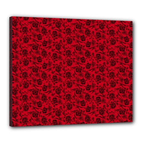 Roses Pattern Canvas 24  X 20  by Valentinaart