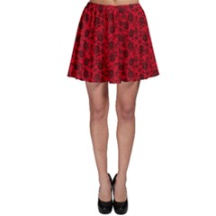 Roses Pattern Skater Skirt by Valentinaart