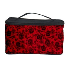 Roses Pattern Cosmetic Storage Case by Valentinaart