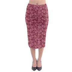Roses Pattern Midi Pencil Skirt by Valentinaart