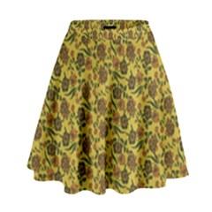 Roses pattern High Waist Skirt by Valentinaart