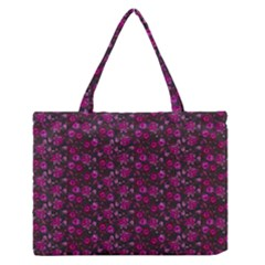 Roses Pattern Medium Zipper Tote Bag by Valentinaart