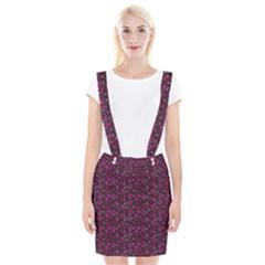 Roses Pattern Braces Suspender Skirt by Valentinaart