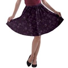 Roses Pattern A Line Skater Skirt by Valentinaart