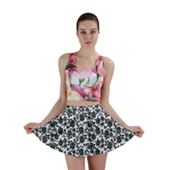 Roses Pattern Mini Skirt by Valentinaart