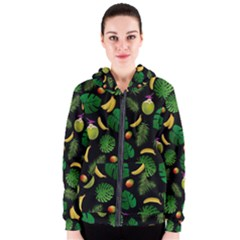 Tropical Pattern Women s Zipper Hoodie by Valentinaart