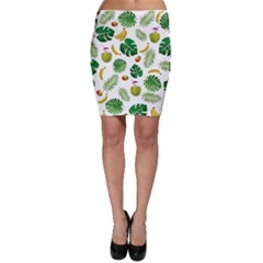 Tropical Pattern Bodycon Skirt by Valentinaart