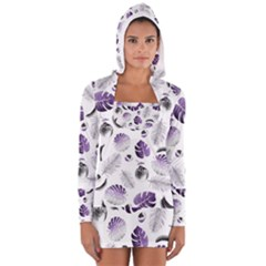 Tropical Pattern Women s Long Sleeve Hooded T Shirt by Valentinaart